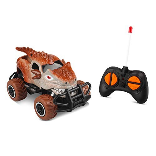 Mycaron Dinosaur Remote Control Car for 3 Year Old BoysDino Jurassic Trucks for 4-5