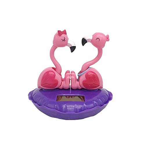 isilky Solar Dancing Toys Powered Swinging Love Flamingo Shape Dancer Toy Car Dashboard Home Decoration Christmas for Families Lovers Friends