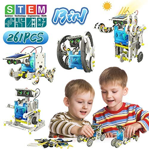 Coodoo 261pcs Solar Robot Building Toys 13 in 1 Science Kits for Kids 10-12 STEM Educational & Lovers Age 11 12
