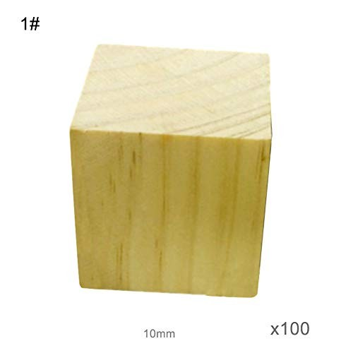 Adult Wooden Square Cubes Building Blocks Math DIY Craft Puzzle Toy Gift Puzzles & Magic Perfect Fun Time Play Activity for 1#