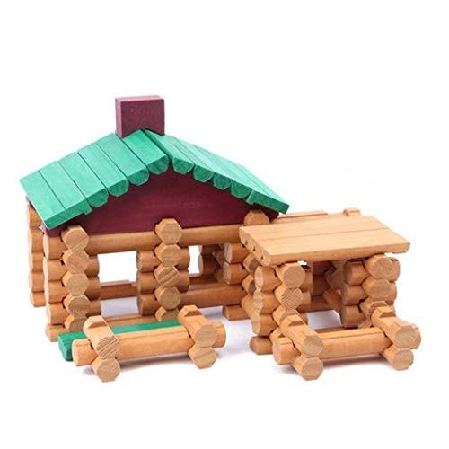 Anyren Children Forest Chalet DIY Wooden House Building Blocks Kids Villa Log Assembling Toy Doll Puzzle Gifts