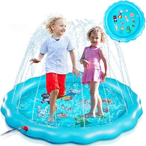 FiveJoy Sprinkler for Kids 67 Splash Pad for Babies and Toddlers Wading Swimming Kiddie