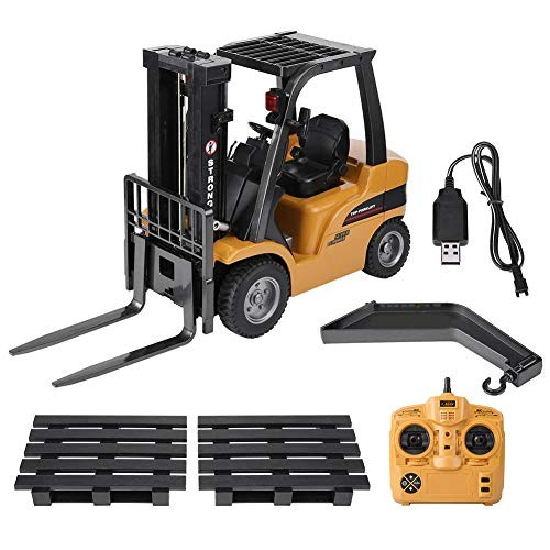 Qiterr Toy RC Truck 577 24G 8CH Electric Remote Control Model Forklift Engineering Vehicle