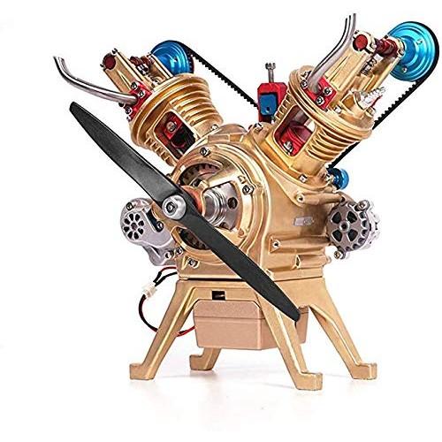 Hwhwxs Car Model Engine Model kit V 2 Cylinder Engine Model 217 Parts All-Metal
