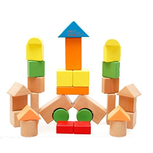 Puppet Wooden Toy Building Brick Colorful Blocks