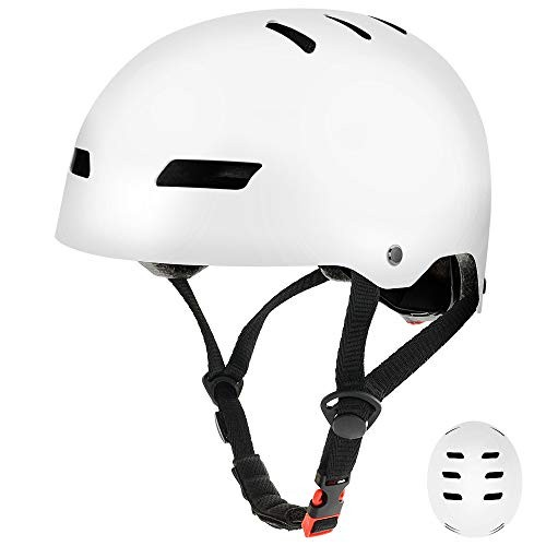 FerDIM Skateboard Helmet Kids/Adult Adjustable Helmet CPSC Certified Impact Resistance Ventilation for Multisport Roller