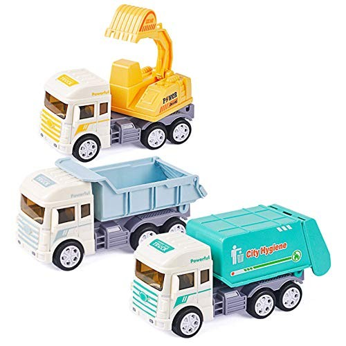 Beher Mini Vehicle Model Alloy Construction Diecast Engineering Truck Models Pocket Size Play Vehicles Cars Educational Toy for Kids Toddlers Boys
