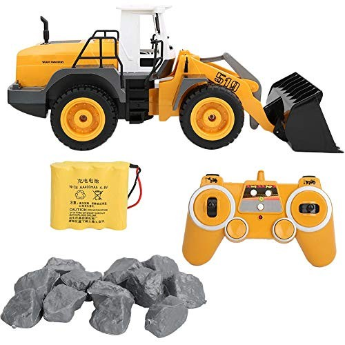 Nannday RC Excavator E519 24G 1 20 Scale Remote Control Construction Engineering Toy Bulldozer Vehicle USB Charging Shovelcar Heavy-Duty Dozer Gifts for Kids Yellow
