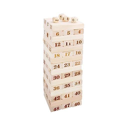 LPER Puzzles Toys for Kids Puzzle Toy 48 PCS Pile Wooden Building Blocks