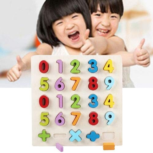 LPER Puzzles Toys for Kids Puzzle Toy Rainbow Number 1-20 Style Children Early Education Wooden Building Blocks Parent-Child Interaction Educational Size 32323cm Color Color2