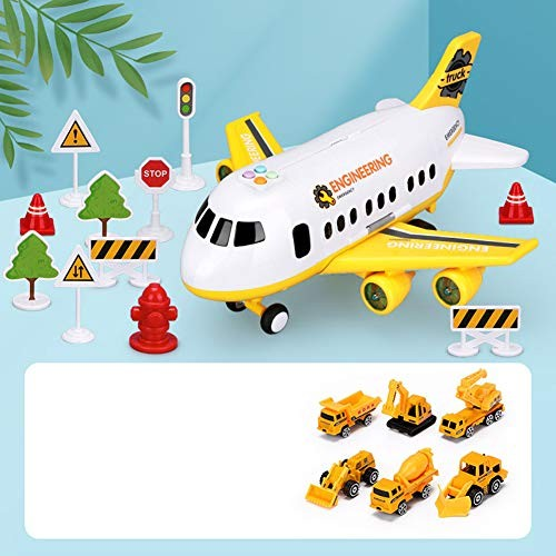 Alician Simulation Aircraft Children's Toy Large Size Passenger Plane Kids Airliner Car Carrier Inertial – Engineering Child Toys