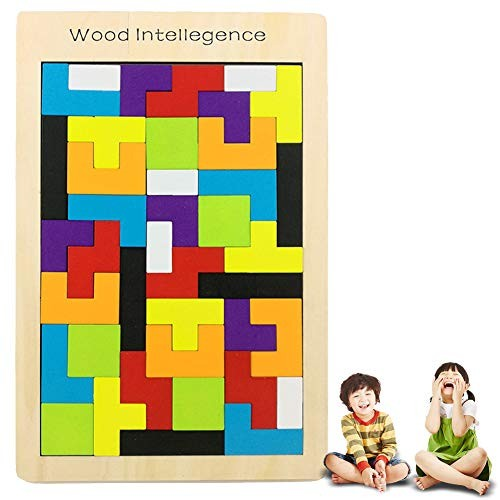 1set Creative Building Blocks Puzzle Game Wooden Tetris Educational Toy Kit for Kid