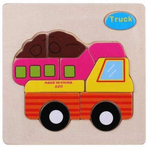 Alician Wooden Puzzle Children Building Blocks Cartoon Animal Early Childhood Toys Intellectual Development Truck Child