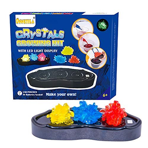 Onnetila Crystal Growing Kit for Kids with Light-Up Display – STEM Science Experiments Projects Boys and Girls