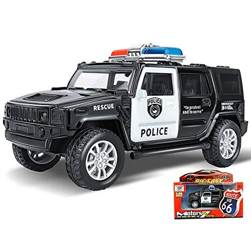 khkadiwb Kids Toy Collection Birthday Gift for Children Party Favors & 1/36 Simulation Police