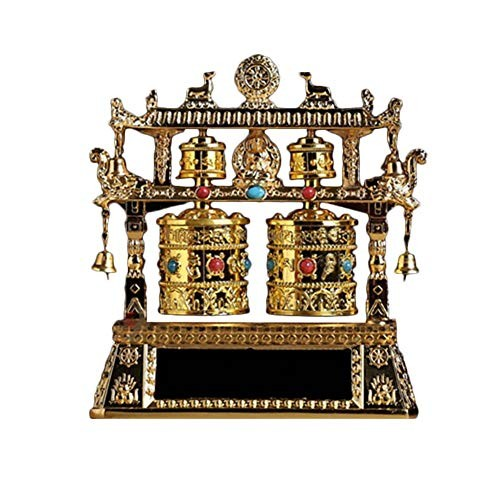 Solar Powered Dancing Bobble Head Toys Toy Car Interior Decoration Figure with Buddha Statue Electric Prayer Wheels Fortune Alloy Battery Energy Dual Use Four