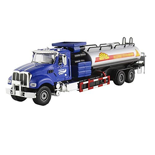 xolye Hardcover Petrochemical Transport Vehicle Model Alloy Engineering Toy Car Metal Pull Back Oil Boxed Children's Gift Tanker