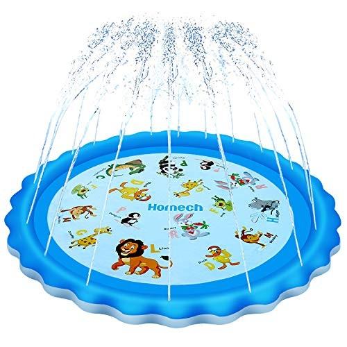 Homech Sprinkler for Kids Splash Pad Outdoor Inflatable Sprinkler Water Toys Wading and Learning