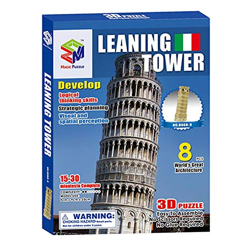 Fanthee DIY Puzzle Toy3D World Jigsaw Construction Model Kit Craft Educational Toy 07 Empire State Building
