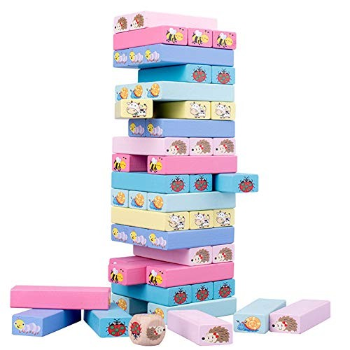 Childplaymate Wooden High Piles Building Balance Block Stacked Layers Educational Toys
