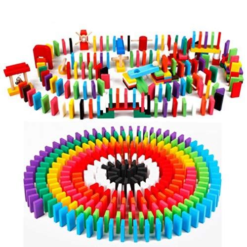 SUPVOx Domino Dominoes for Kids Set 120Pcs Bulk Pick Up Sticks Building Blocks Toy
