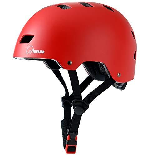 Apusale Skateboard HelmetKids Youth Adult Bike Helmetfor Scooter Cycling Roller Skate3 Adjustable Size for
