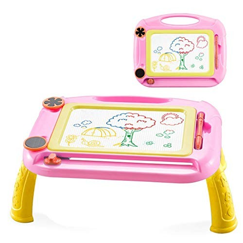 MORECON Kids Magnetic Drawing Board with Holder Graffiti Painting Educational Toys Hot Pink