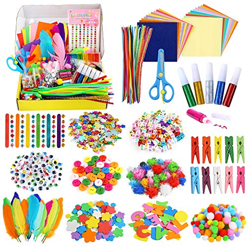 School and Art Caydo 10 Sets People Wooden Spoons Kit Class Pack for Kids Gift
