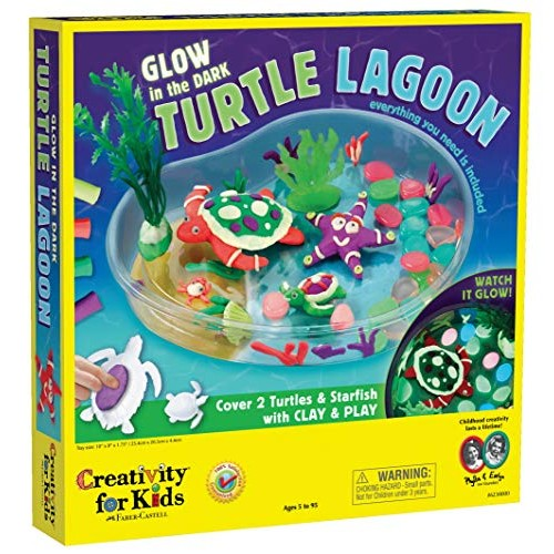 Creativity for Kids Create with Clay Turtle Lagoon Marine Biology Crafts – Build a Sea Habitat Multi 6238000