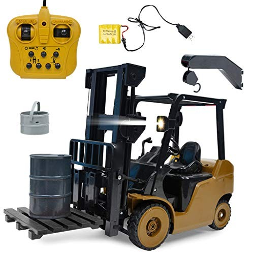 Mintuse Engineering Crane Forklift Truck 1 8 24Ghz Remote Control 8 Channel Full Functional Ideal Present Toy Birthday Gift for Boys Yellow