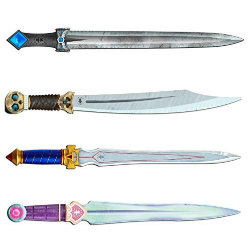 Monarti Toy Recyclable Cardboard Sword 4 Pack Weapon for Costume Battle Play and Cosplay