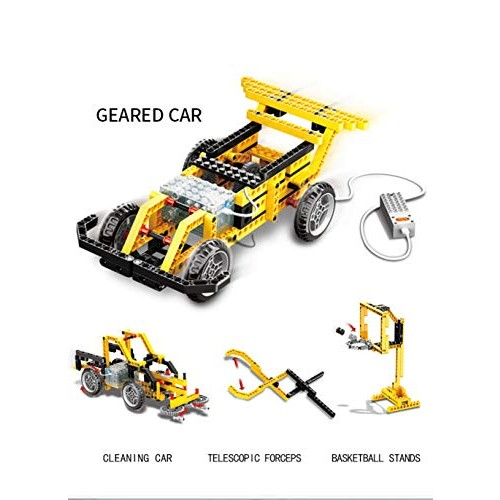 ROTERDON Building Bricks Toys Cars STEM 216 PCS Blocks Sets 4 in 1 Racing Car Fun Street Sweeper Classic Birthday Gift Party Favors for Boys & Girls