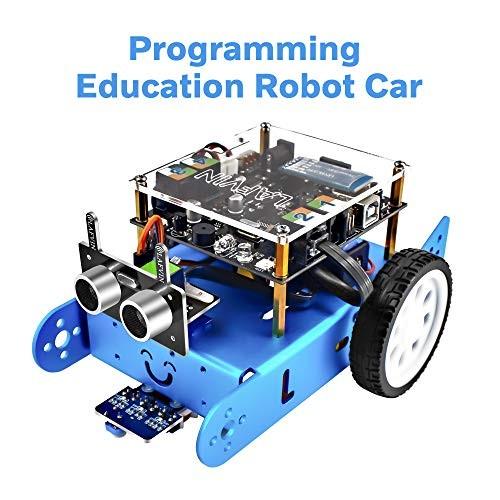 LAFVIN Ibot Programmable Education Robot Car Kit STEM EducationEntry-Level ProgrammingDIY Mechanical Building Blocks Compatible with Arduino IDE