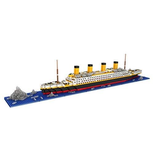 Dayloveme 1860 Pcs Mini Blocks DIY Toys Titanic Cruise Ship Model Building Block Set Micro