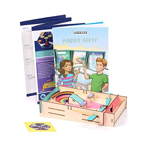 Little Passports STEM Pinball Party Kit – Kits Kids Learning Games Science Game Math Physics Educational for Ages 9 & Up