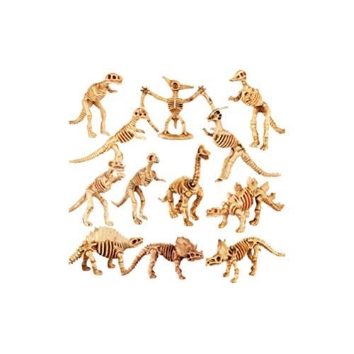 HEALLILY Dinosaur Skeleton Models Kit Archeological Excavation Toys Animal Fossil Figures Educational for Kids Children 12pcs