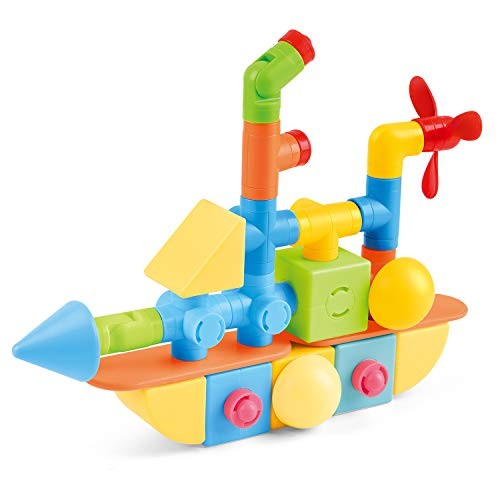 LookengQbix 48pcs Magnetic 3D Building Shapes 4-in-1 Themes Magnet Blocks Tiles STEM Educational Toys w 25 Different Designs in Idea Book for Children Kids Brain Development