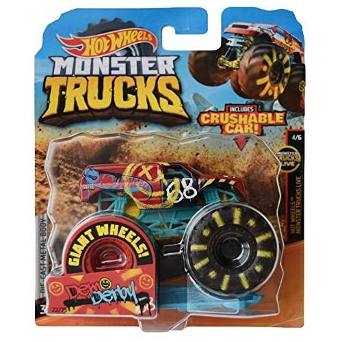 Hot Wheels Monster Trucks 1:64 Scale die cast Demo Derby 22/75 Crushable Car