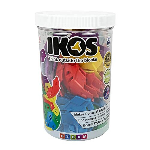 IKOS Spherical Construction Toys – Award Winning Kids STEAM Learning Boys and Girls Educational Brain Games for Teaches Coding 30 Pc Creator Set