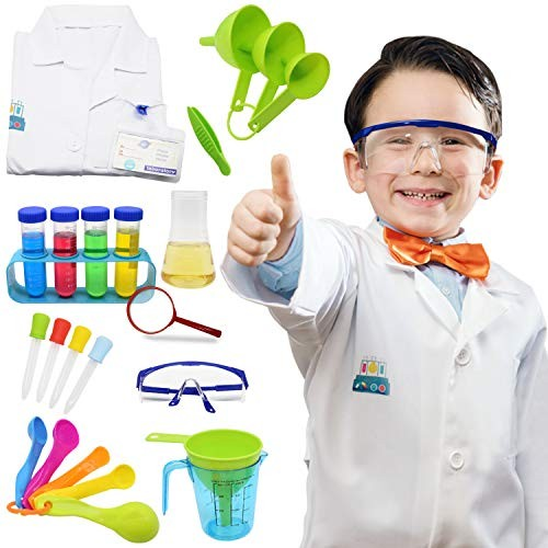 Science Kits for Kids Lab Coat Scientist Costume Toys