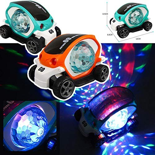 Zhuygba Electric 3D Light Music Cartoon Toy CarRechargeable Vehicle Playset with Colorful SwitchToddler Friendly Toys Vehicles for Children Toddlers Kids Mini Engineering Toys Classic Car