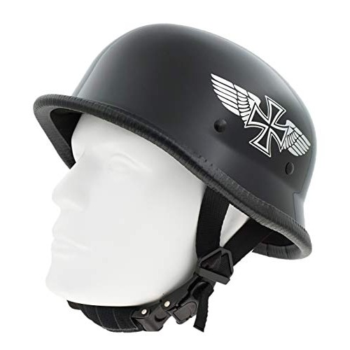Hot Rides Classic Costume Carnival Skate Scooter Helmet Novelty German Gloss Black with SilverFlying
