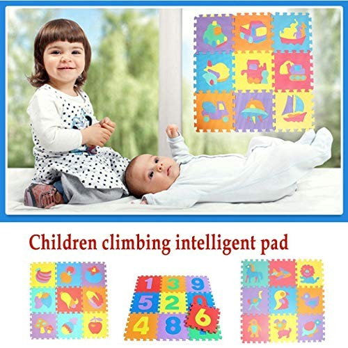 Xuprie 36PCS Baby Kids Alphanumeric Educational Puzzle Foam Mats Blocks Toy Gift Puzzle Play Mats