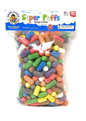 Super Puffs Primary Colors – Medium Bag 250 Noodles STEM Arts and Crafts Toy for Kids Build Decorate Create Biodegradable Non-Toxic CC10431
