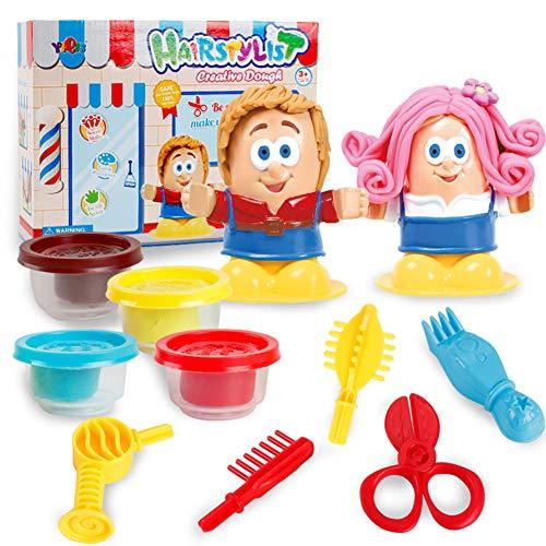 BeesClover Children 3D Hairdresser BBQ Clay Set Toys PlasticineTool Kit DIY Playdough Molding 6818-2