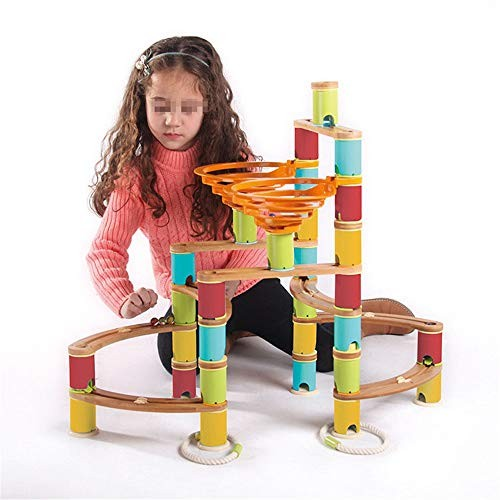 Blocks Building Track Ball Wooden Toy