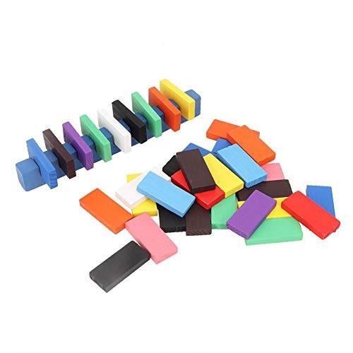 Fishlor 300Pcs Dominoes Game Wooden Domino Building Blocks Kit Children Educational Puzzle Toy Set Gift