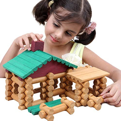 Full Dolls DIY Wooden Forest House – Kids Log Packaging Villa Doll Toys Chalet Set Lincoln Creative Puzzle Building Blocks Assembled