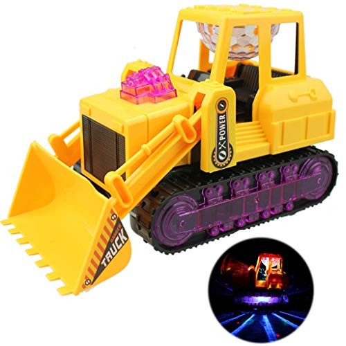 Bulldozer Truck Funny Led Electric Construction Vehicle Toy Music Flash Car Universal Wheel Sound and Light Engineering Forklift