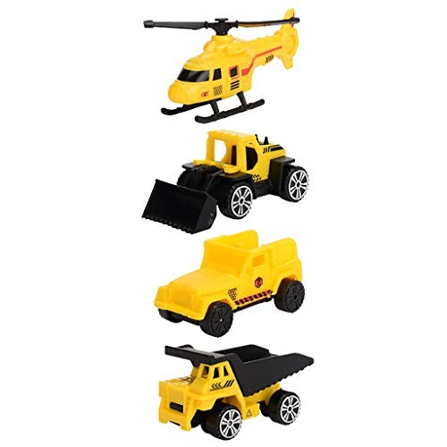 Behkiuoda Mini Plastic Car Model Toy Off-Road Fire Truck Boy Model Buggy Toy (Free